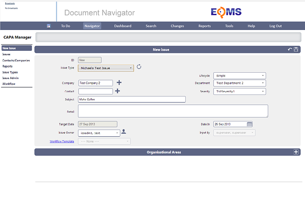 EQMS New UI CAPA