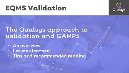 1 Qualsys approach to GAMP 5