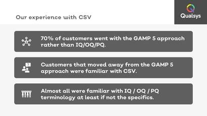4 why GAMP 5 not IQ OQ PQ