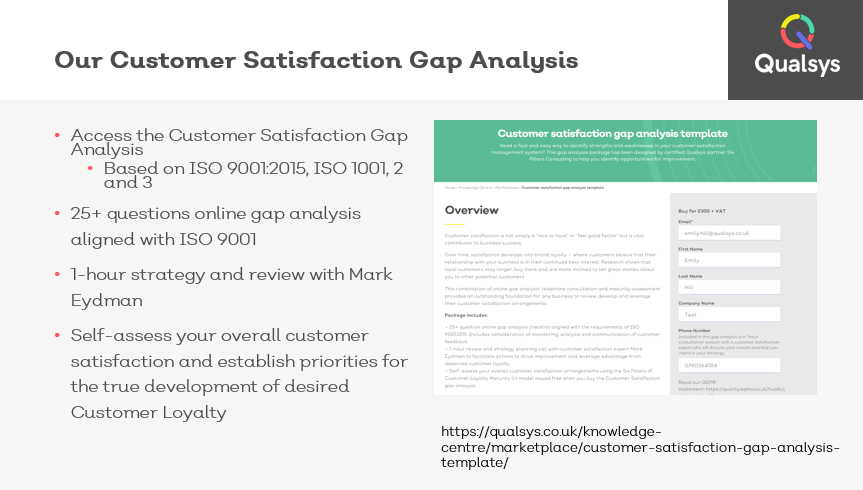 Customer satisfaction gap analysis