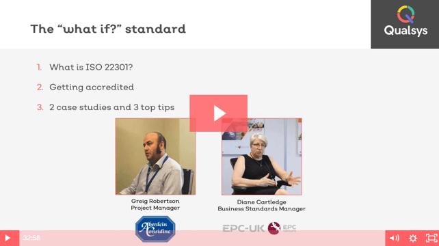 ISO 22301 webinar