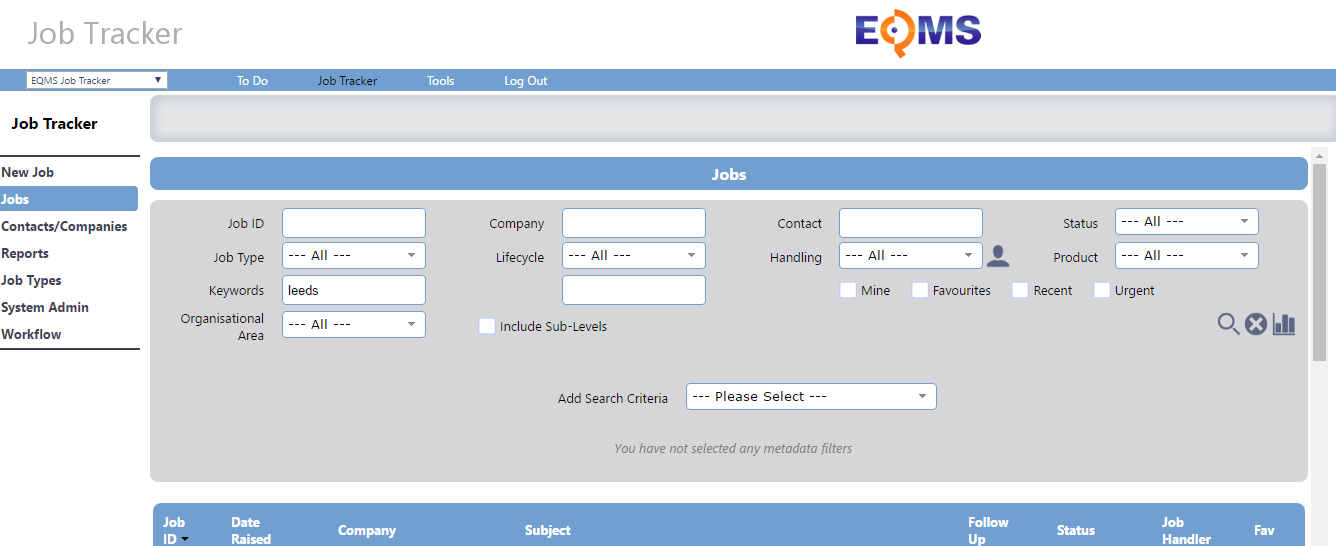 You can follow service delivery stages via the job tracker or issues manager