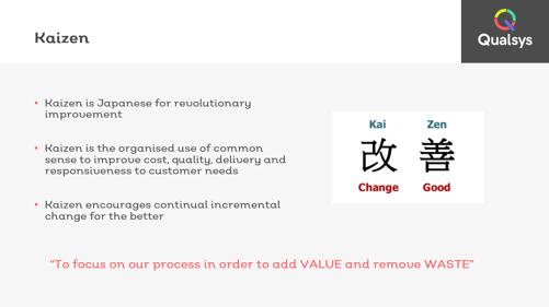 Kaizen lean management