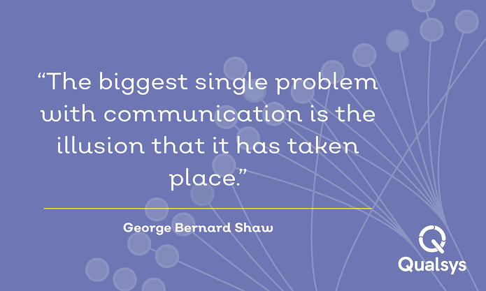 """The biggest single problem with communication is the illusion that it has taken place."" GBS.png"