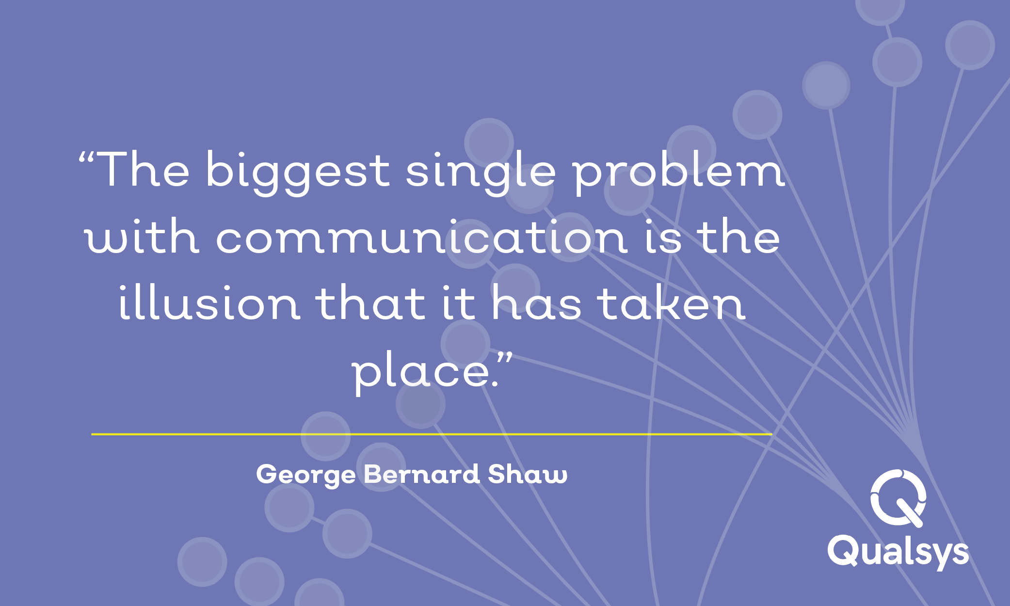 """""""The biggest single problem with communication is the illusion that it has taken place."""" GBS.png"""