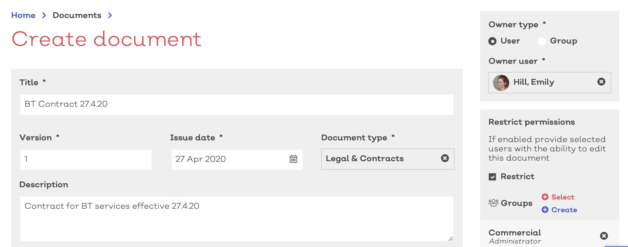 EQMS contract e-signature