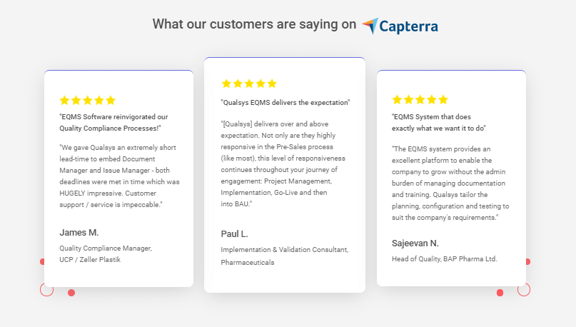 What our customers are saying on capterra