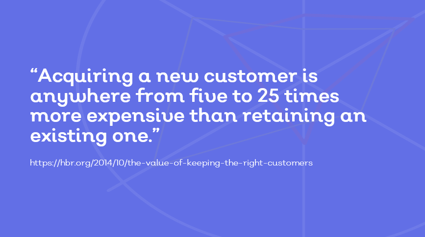 cost of acquiring a new customer