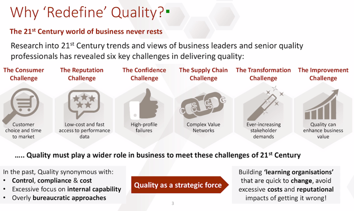 Why redefine quality?