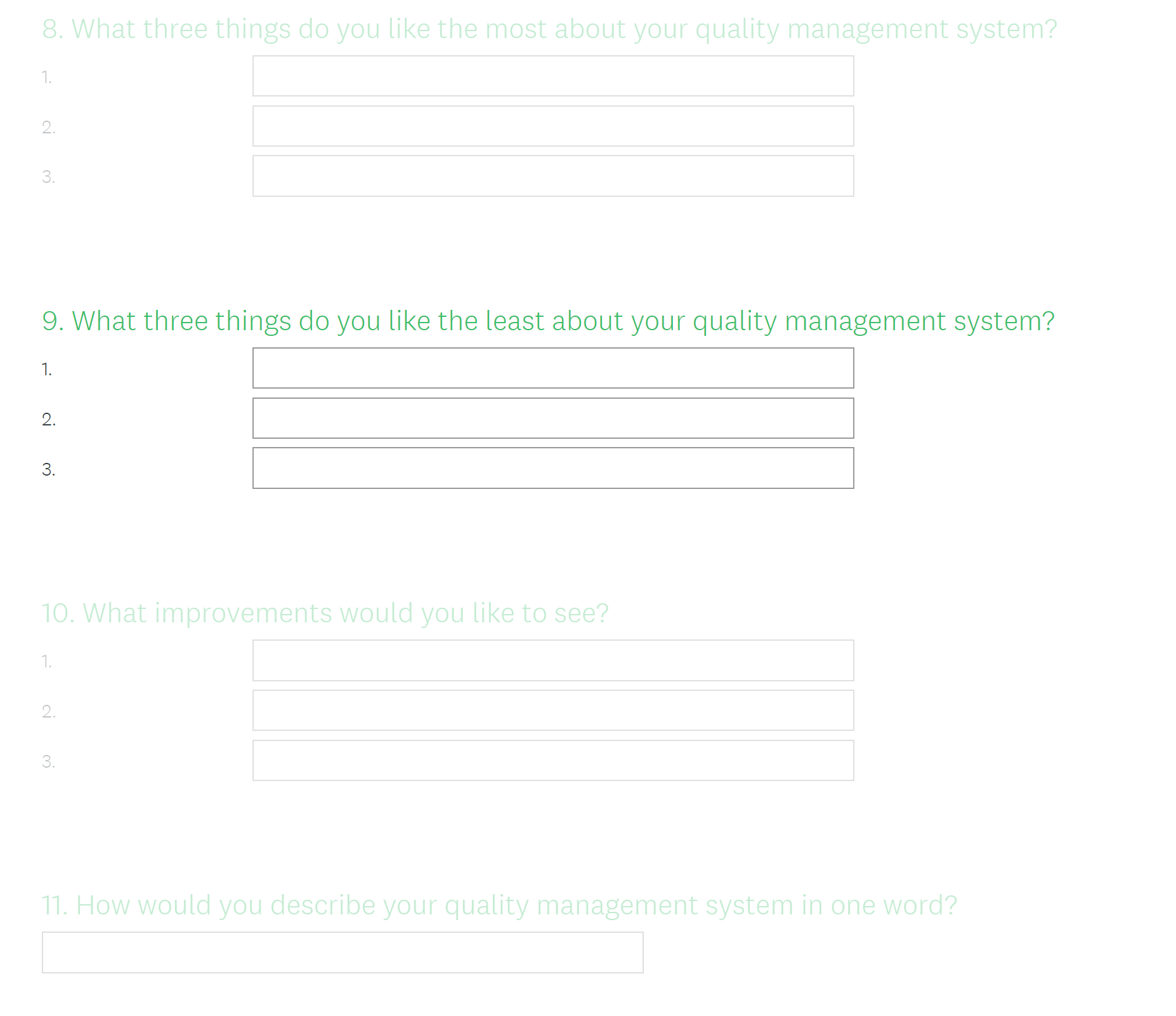 Implementing a Quality Management System: Best Practice